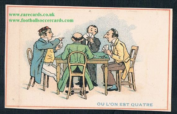 1900s French trade card players gamers cards Leon Moise